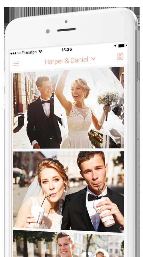 aplicación de fotos de boda